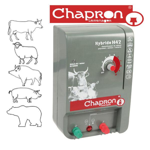 Generator de impulsuri pentru gard electric, pentru animale salbatice si domestice HYBRIDE H42,4.25J, 12V/220V