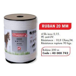 Banda 20 mm pentru animale domestice, 4 lite, 200 M