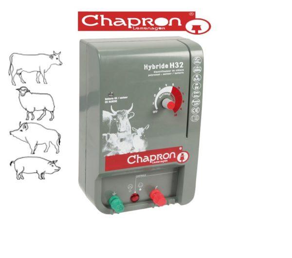 Generator impulsuri gard electric HYBRIDE H32 Chapron pentru animale domestice si salbatice, 3.2J 12V/220V