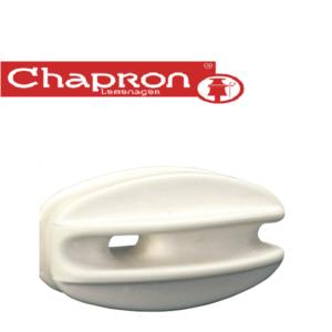 Izolator pentru gard electric alb, in unghi si capat | Chapron