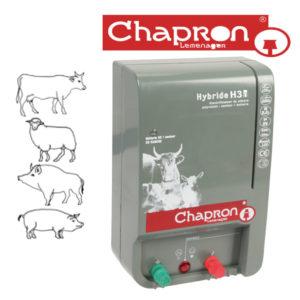GENERATOR DE IMPULSURI HYBRIDE H30 Aparat Chapron de gard electric pentru animale domestice si salbatice  1.6J 12V/220V