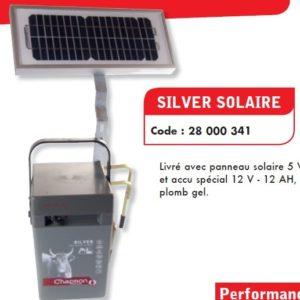 Aparat Chapron pentru gard electric Silver Solaire 5W, 0.3J