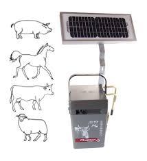 SILVER SOLAIRE Aparat Chapron pentru gard electric, 0.3J  cu panou solar de 5W si acumulator 12V 12Ah inclus