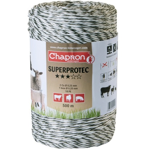 Fir Superprotec pentru gard, 1 fir inox 0.2, 2 fire cupru 0.25, 500m