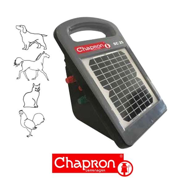 SC 25- Ready to use  Aparat Chapron pentru gard electric 0.25 J cu panou solar si acumulator 12V 7 Ah inclus